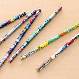 動物 恐竜 7色カラー鉛筆 色鉛筆 7色えんぴつ