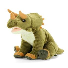 トリケラトプス Mサイズ ぬいぐるみ おすわりシリーズ リアル 恐竜 | きょうりゅう おもちゃ 子供 誕生日プレゼント こども キッズ 3歳 4歳 5歳 6歳 7歳 8歳 幼児 小学生 男の子 女の子 オモチャ 玩具 インテリア 大人 贈り物 ギフト プレゼント 誕生日 かわいいぬいぐるみ