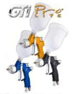 【GTi-Pro-LITE シリーズ】1.3口径 クリヤコート用Devilbiss デビルビスジーティーアイ・プロ・ライト LVMP仕様センターカップ仕様カップ付きGTi PRO LITEノズル1.3口径低圧エアー スプレーガン
