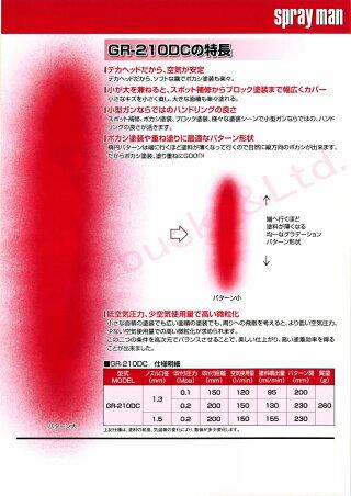 恵宏製作所エコーGR-210DC+FASR-400G13/G15グラデーションガン1.3口径/1.5口径/軽量260gミニスプレーガン400ccカップ付セット