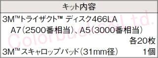 3M5432ぶつ取りキット466LA2500番相当・3000番相当ディスク各20枚、パッド1個のセット