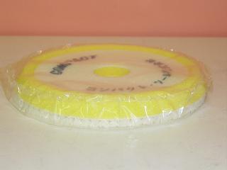 コンパクトツールウールバフ20×150×30mm黄色パットサイズ123パイ用ポリッシャー用