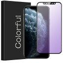 iPhone11 Pro ガラスフィルム iPhone 8 7 XS Max X XR 6 6s Plus ガラスフィルム 全面保護 ブルーライトカット 90% カット 11ProMax 強化ガラス 保護フィルム フィルム 強化ガラスフィルム フルカバー 目に優しい[光沢 アンチグレア/マット]