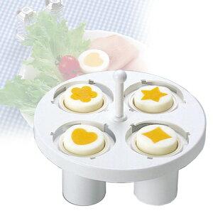 ゆで卵器 ドリームランド ゆで玉子用 調理器 ( ゆで玉子器 ゆで卵用 便利グッズ ゆで卵 ゆで玉子 ゆでたまご ゆで卵メーカー ゆで玉子メーカー エッグカッター トッピング ハート型 ダイヤ