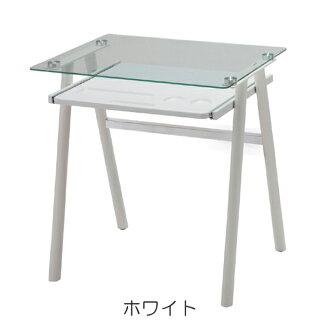 デスク机ガラス天板トリスタ