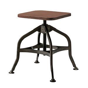 スツール 高さ40cm〜59cm 高さ調節 昇降機能 スチール 竹製 ( 送料無料 椅子 イス いす チェア 腰掛け チェアー キッチン 玄関 リビング 飾り棚 踏み台 四角 バンブー 角 高さ 調整 インダスト