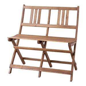 ガーデンチェア 折りたたみ 2人掛 バイロン 折りたたみ2人掛ベンチ ( 送料無料 折りたたみベンチ 2人掛けベンチ 木製ベンチ ベンチ 木製 ガーデン オイル仕上げ アカシア材 アウトドア レジ