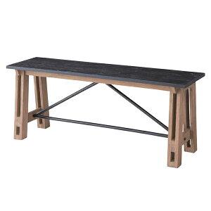 ベンチ 天然木 Isaac 幅115cm ( 送料無料 椅子 イス いす チェアベンチ ベンチチェア 木製ベンチ 長椅子 腰掛け チェアー ダイニングベンチ 木製 レトロ アンティーク調 異素材 スタイリッ