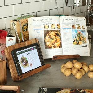 レシピスタンド 木製 アカシア ダルトン DULTON ( ブックスタンド タブレットスタンド 本立て レシピ立て マルチスタンド ブックレスト スマホスタンド 卓上 キッチン ダイニング 天然木 お