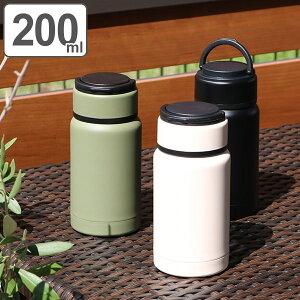 水筒 直飲み ステンレス ROCCO TO-GOボトル スリム 200ml ( 保温 保冷 コンパクト ステンレスボトル ダイレクトボトル ステンレス製 ミニ ミニサイズ スタイリッシュ ロッコ ハンドル付き 持ち手