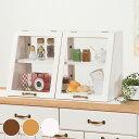 ガラスケース 2段 アンティーク調 ショーケース 幅60cm 食器棚 ミニタイプ ミニ ( 送料無料 ディスプレイケー…