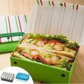 サンドイッチケース折りたたみプラスチック製パーネパッコチェックストライプ