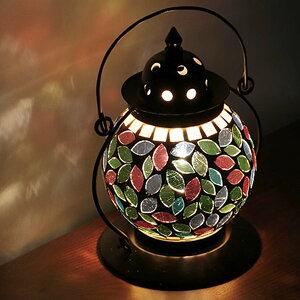 照明 テーブルランプ ランタン LED対応 モザイク スタンドライト セルマイ ( 送料無料 ランプ 間接照明 テーブルライト ガラス ステンドグラス モザイクガラス おしゃれ ライト フロアラン
