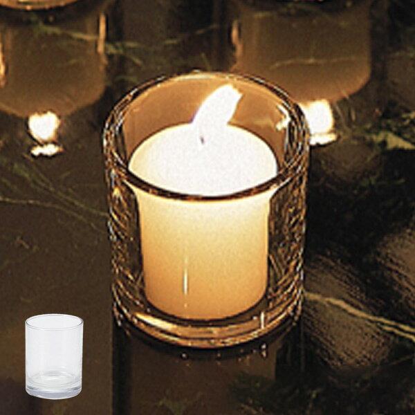 キャンドルポット キャンドルホルダー コップ型 ガラス製 ( キャンドルスタンド ろうそく立て キャンドルグラス キャンドルフォルダー キャンドルトレイ ガラスポット アロマキャンドル ) 【4500円以上送料無料】