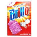 スチールウール たわし 食器洗いパッド ブリロ Brillo 10個入 ( ソープパッド タワシ スポンジ 焦げ落とし スチ…
