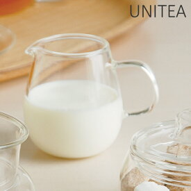 キントー KINTO ミルクピッチャー UNITEA ユニティ 180ml ( ピッチャー ガラス ガラス ミルク入れ コーヒー 紅茶 耐熱ガラス )【3980円以上送料無料】