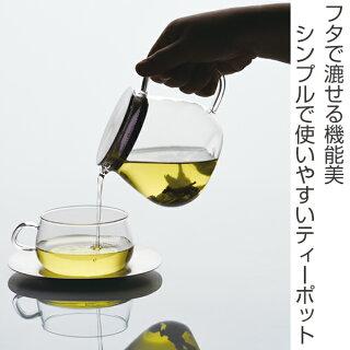 キントーKINTOティーポットUNITEAユニティ460mlワンタッチティーポット耐熱ガラス製