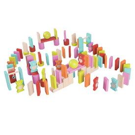 ドミノ 105ピース 木製 おもちゃ 知育玩具 Classic クラシック ( ドミノ倒し ブロック 牌 玩具 木のおもちゃ クマ ドミノ牌 ゲーム 仕掛け 立体 木 18ヶ月 1歳半 おしゃれ )【3980円以上送料無料】