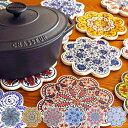 鍋敷 IZNIK イズニック トリベット タイル鍋敷 ( 鍋敷き なべ敷き 鍋しき なべしき トルコ陶器 イズニク製 陶器製鍋…