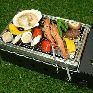 カセットコンロ焼きまへんか網焼き・串焼き・プレート焼き1台で3役家庭用