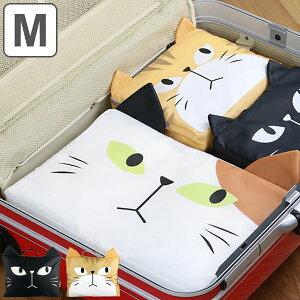 トラベルポーチ 収納バッグ M ネコ ( 収納バッグ バッグインバッグ インナーバッグ 旅行ポーチ ねこ 猫 かわいい 大きい 大 旅行 衣類 着替え リュック カバン 鞄 スーツケース 収納 整頓 収