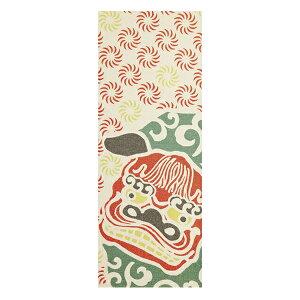 手ぬぐい 金糸手ぬぐい 獅子舞踊り 日本製 ( てぬぐい 手拭 手拭い インテリア 飾る 飾り 壁 壁面 おしゃれ タペストリー ハンカチ ハンドタオル 金糸 獅子舞 ししまい お正月 祭り )【3980