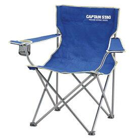 折りたたみ椅子 パレット ラウンジチェア type マリンブルー 携帯用 ( キャプテンスタッグ 背もたれ付き 肘掛け付き CAPTAIN STAG コンパクト収納 レジャー 花火 スポーツ観戦 折りたたみイス フォールディングチェア ディレクターズチェア )