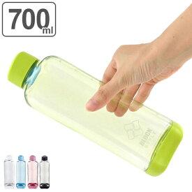 水筒 プラスチック ブロックスタイル アクアボトル 700ml ウォーターボトル ( プラスチック製 スポーツボトル 直飲み ダイレクトボトル スムージー ボトル クリアボトル マグボトル 容器 常温 700 クリア ボトル 軽量 目盛付き )【3980円以上送料無料】