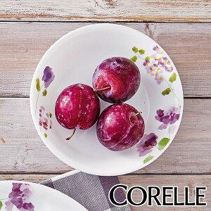 プレート 17cm 深皿 コレール CORELLE 皿 食器 バイオレットミスト ( お皿 深い 白 食洗機対応 電子レンジ対応 中皿 取り皿 オーブン対応 耐熱 白い食器 平皿 丸皿 ケーキ サラダ 取皿 花柄 紫 洋