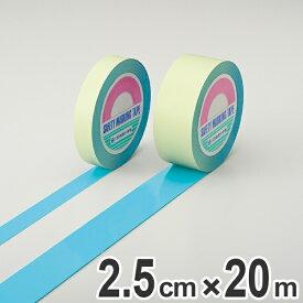 ガードテープ 水色 25mm幅 20m GT−252SB テープ 日本製 ( フロアテープ 屋内 安全 区域 標示 粘着テープ 区画整理 線引き ライン引き ラインテープ 室内 床 対応 専用 安全用品 用品 グッズ ブルー )【3980円以上送料無料】