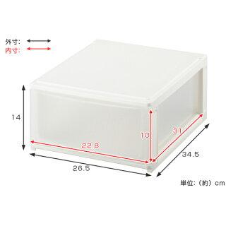 収納ケースポスデコA4サイズ深型1段卓上2個セット