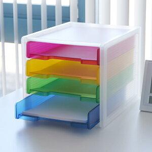 レターケース A4 4段 縦 ファイルトレー 引き出し プラスチック クリアファイル対応 ( レターラック レタートレー ファイルボックス デスクトレー 書類トレー 書類整理 書類 レタ