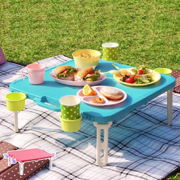 ピクニックテーブル レジャーテーブル 角型 アウトドア ( テーブル 折りたたみテーブル ハンディーテーブル バタフライレジャーテーブル ハンディテーブル 簡易テーブル )【4500円以上送料無料】