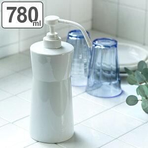 ディスペンサー 詰め替えボトル ホワイトガーデン キッチンポンプ ( ポンプボトル ディスペンサーボトル 詰め替え ボトル 詰替え容器 食器用洗剤 食器洗い洗剤 ハンドソープ 陶器 キッチ