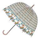 傘 ハッピークリアドームアンブレラ ブロック ビニール ドーム型 長傘 ( カサ かさ 雨傘 アンブレラ 透明傘 レディース おしゃれ レイングッズ )【4500円以上送料無料】