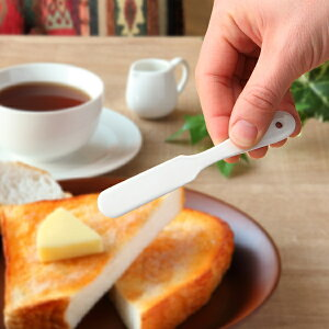 バターナイフ ブラン blanc ステンレス製 プチ ナイフ ホーロー 日本製 ( バタースプレダー 洋食器 カトラリー 琺瑯 白い食器 バター ジャム マーガリン 白 おしゃれ かわいい )【3980円以上