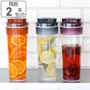 冷水筒 ピッチャー スリムジャグ 1.1L 麦茶ポット 耐熱 横置き 縦置き 洗いやすい 日本製 同色2本セット ( お茶ポット 熱湯 ドアポケット ジャグ ポット 麦茶 冷茶 ドリンクピッチャー お茶入
