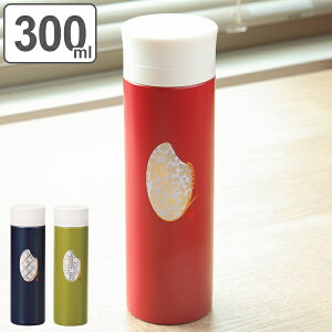 水筒 ステンレス 直飲み マグボトル 米もん 300ml 軽量 ( 送料無料 ステンレスボトル 保温 保冷 和柄 スリムボトル コンパクト ボトル 和風 ステンレス製 おしゃれ お洒落 ウォーキング 遠足