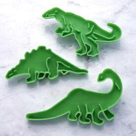 クッキー型 抜き型 恐竜 3個セット プラスチック製 タイガークラウン ( クッキー抜型 クッキーカッター 製菓グッズ 抜型 クッキー抜き型 製菓道具 お菓子作り ) 【4500円以上送料無料】