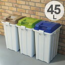 ゴミ箱 ふた付き 連結ハンドルペール 45L ( 45リットル 屋外 ダストボックス 分別 スタッキング ストッカー ごみ…
