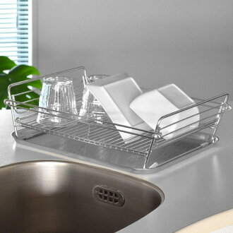 Product made in dish drainer SUI Meister stainless steel folding compact drainer rack Japan (drainer folding basket rack kitchen article kitchen folding-type Sui Meister made of drainer basket slim stainless steel)
