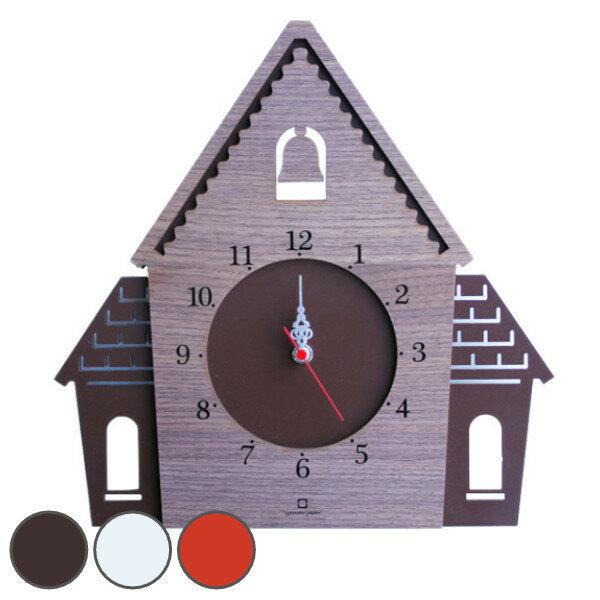 掛け時計 ヤマト工芸 yamato DOUWA house W ( 壁掛け 壁掛け時計 時計 ハウス 家 おしゃれ 時計 木 ナチュラル 木製 壁 シンプル 北欧 壁かけ時計 インテリア時計 ) 【4500円以上送料無料】