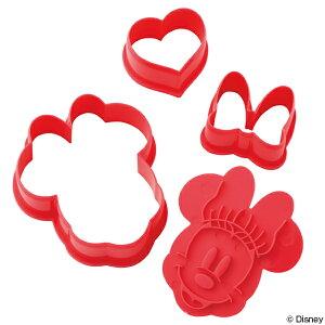 クッキー型 ミニーマウス 3個入り プラスチック製 抜...