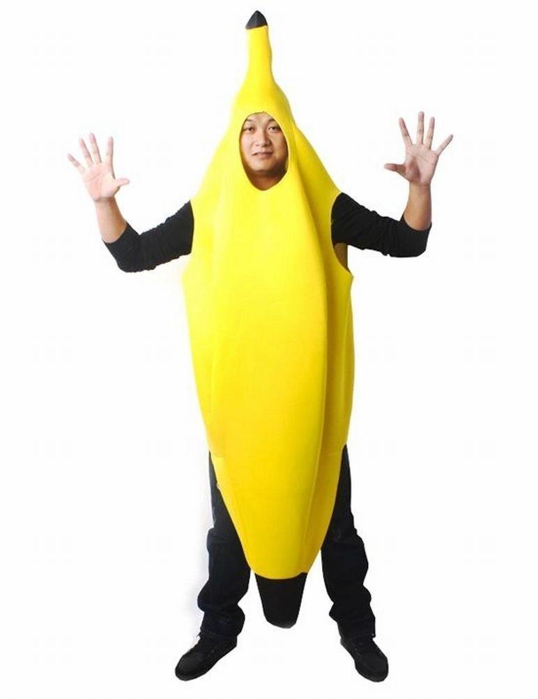 全身 バナナ 大人用 コスプレ おもしろ ハロウィン バナナスーツ 被り物 変装 グッズ 宴会 ハロウィン パーティー