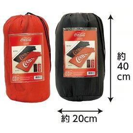 寝袋 封筒型 シュラフ Coca-Cola コカコーラ 1人用 収納バッグ付属 175cm×75cm 軽量 アウトドア キャンプ 車中泊 防災 ロゴ入 限定
