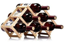 ワインラック 木製 ホルダー 6本収納 折りたたみ式 ワイン ボトル スタンド 収納 ケース インテリア