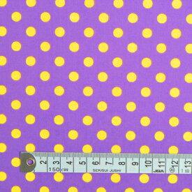 1.5m(数量15)までならネコポス便商用利用可 生地 水玉柄 ドット柄 パープル 紫地に水玉ラメ ブロード生地 ネコポス対応