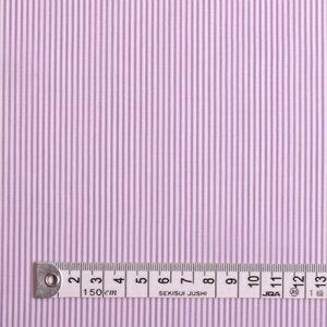 【メーカーお取り寄せ】1.5m(数量15)までならネコポス便商用利用可 生地 パープル 超長綿先染ブロードロンスト・白×紫ストライプ細 50先染ブロード生地 ネコポス対応