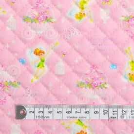 商用利用可 生地 キルティング 生地 ピンク 女の子 フェアリープリンセスのファンタジーダンス(ピンク) キルティング生地