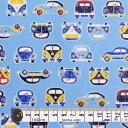 商用利用可 生地 ラミネート つや消し 生地 スカイ 男の子 まぁるい車で空色ドライブ ラミネート(厚み0.08mm)生地